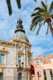 Αίθουσα Ισπανία Ayuntamiento de Καρχηδόνα Murciacity Στοκ φωτογραφία με δικαίωμα ελεύθερης χρήσης