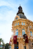 Αίθουσα Ισπανία Ayuntamiento de Καρχηδόνα Murciacity Στοκ Φωτογραφία