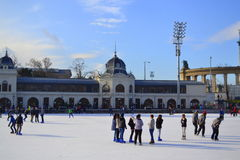 Αίθουσα παγοδρομίας Βουδαπέστη πάγου Στοκ φωτογραφία με δικαίωμα ελεύθερης χρήσης