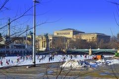 Αίθουσα παγοδρομίας Βουδαπέστη πάγου Στοκ φωτογραφίες με δικαίωμα ελεύθερης χρήσης