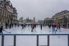 Αίθουσα παγοδρομίας πατινάζ πάγου στο Παρίσι στοκ φωτογραφία με δικαίωμα ελεύθερης χρήσης