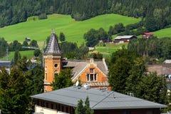 Αίθουσα πόλεων στο κέντρο πόλεων Schladming, Styria, Αυστρία Στοκ εικόνα με δικαίωμα ελεύθερης χρήσης