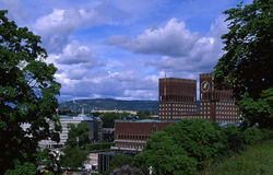 αίθουσα πόλεων Στοκ εικόνα με δικαίωμα ελεύθερης χρήσης