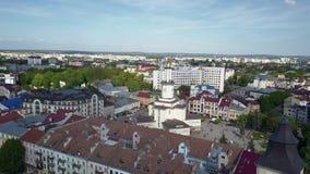 Αίθουσα πόλεων ivano-Frankivsk, εναέρια απόθεμα βίντεο