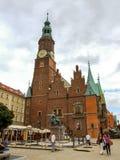 Αίθουσα πόλεων WrocÅ 'aw στο παλαιό τετράγωνο αγοράς κωμοπόλεων Στοκ Εικόνες