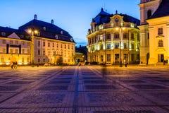 Αίθουσα πόλεων και παλάτι Brukenthal στο Sibiu Στοκ φωτογραφίες με δικαίωμα ελεύθερης χρήσης