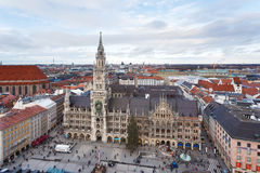 Αίθουσα πόλεων στο Μόναχο Στοκ Φωτογραφίες