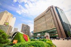 Αίθουσα πόλεων της Σεούλ στις 19 Ιουνίου 2017 στην πρωτεύουσα της Νότιας Κορέας Στοκ φωτογραφίες με δικαίωμα ελεύθερης χρήσης