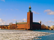 αίθουσα Στοκχόλμη Σουη στοκ φωτογραφία
