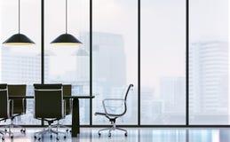 Αίθουσα συνεδριάσεων στη σύγχρονη τρισδιάστατη δίνοντας εικόνα γραφείων Στοκ Εικόνες
