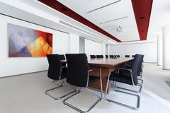 Αίθουσα συνεδριάσεων στο επιχειρησιακό κέντρο Στοκ Εικόνες