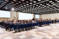 Αίθουσα συνδιαλέξεων, επιχειρησιακή διάσκεψη και κατάρτιση στην αίθουσα Στοκ φωτογραφία με δικαίωμα ελεύθερης χρήσης