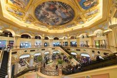 Αίθουσα του ενετικού θερέτρου ξενοδοχείων και χαρτοπαικτικών λεσχών του Μακάου στο Μακάο Στοκ Φωτογραφία