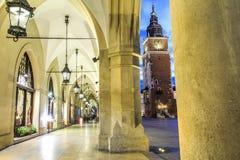 Αίθουσα υφασμάτων και παλαιά αίθουσα πόλεων, Κρακοβία, Πολωνία Στοκ φωτογραφίες με δικαίωμα ελεύθερης χρήσης
