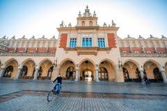 Αίθουσα υφασμάτων στο τετράγωνο αγοράς στην Κρακοβία Στοκ Φωτογραφίες