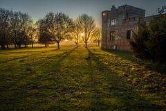 Αίθουσα Felbrigg, Norfolk στο ηλιοβασίλεμα το χειμώνα Στοκ Εικόνα