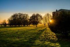 Αίθουσα Felbrigg, Norfolk στο ηλιοβασίλεμα το χειμώνα Στοκ φωτογραφίες με δικαίωμα ελεύθερης χρήσης