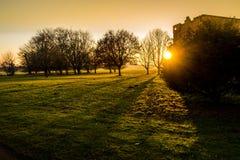Αίθουσα Felbrigg, Norfolk στο ηλιοβασίλεμα το χειμώνα Στοκ Φωτογραφία