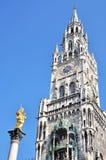 αίθουσα marienplatz Μόναχο πόλεων νέ Στοκ Εικόνα