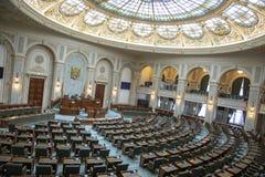 Αίθουσες Συγκλήτου στο παλάτι του Κοινοβουλίου Βουκουρέστι Ρουμανία στοκ φωτογραφία με δικαίωμα ελεύθερης χρήσης
