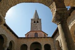 Αίθριο της βασιλικής Euphrasian, Porec, Istria, Κροατία Στοκ φωτογραφίες με δικαίωμα ελεύθερης χρήσης