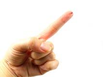 Αίμα που στάζει από το δάχτυλο που απομονώνεται στο άσπρο υπόβαθρο Στοκ εικόνες με δικαίωμα ελεύθερης χρήσης