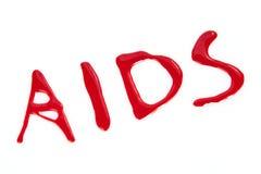 Αίμα: AIDS Στοκ Εικόνες