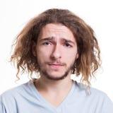 Αίσθημα που ανατρέπεται, άτομο με τη λυπημένη έκφραση του προσώπου Στοκ φωτογραφία με δικαίωμα ελεύθερης χρήσης