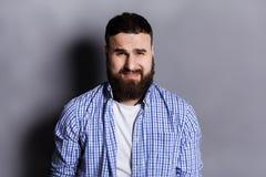 Αίσθημα του, λυπημένου γενειοφόρου πορτρέτου ατόμων Στοκ Εικόνα