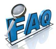 Αίτημα FAQ Στοκ Φωτογραφίες