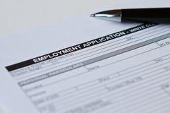 Αίτηση υποψηφιότητας απασχόλησης Στοκ Φωτογραφία