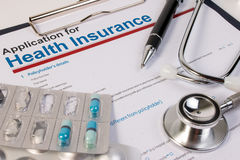 Αίτηση υποψηφιότητας για την ασφάλεια υγείας Στοκ Εικόνες