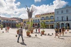 Αβάνα, Κούβα - 29 Νοεμβρίου 2017: Plaza Vieja σε Habana Vieja Στοκ Εικόνα