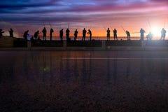 Αβάνα, Κούβα, ψαράδες Στοκ φωτογραφία με δικαίωμα ελεύθερης χρήσης
