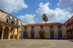 Αβάνα, Κούβα - Plaza de Λα Catedral, η παλαιά Αβάνα, περιοχή παγκόσμιων κληρονομιών της ΟΥΝΕΣΚΟ Στοκ φωτογραφία με δικαίωμα ελεύθερης χρήσης
