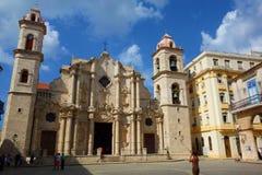 Αβάνα, Κούβα - Plaza de Λα Catedral, η παλαιά Αβάνα, περιοχή παγκόσμιων κληρονομιών της ΟΥΝΕΣΚΟ Στοκ εικόνες με δικαίωμα ελεύθερης χρήσης