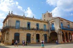 Αβάνα, Κούβα - Plaza de Λα Catedral, η παλαιά Αβάνα, περιοχή παγκόσμιων κληρονομιών της ΟΥΝΕΣΚΟ Στοκ εικόνα με δικαίωμα ελεύθερης χρήσης