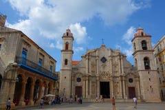 Αβάνα, Κούβα - Plaza de Λα Catedral, η παλαιά Αβάνα, περιοχή παγκόσμιων κληρονομιών της ΟΥΝΕΣΚΟ Στοκ Εικόνες