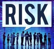 Αβέβαιη έννοια τυχερού παιχνιδιού κινδύνου κινδύνου επικίνδυνη Στοκ Εικόνες