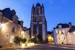 Αβαείο Άγιος-Aubin στη Angers Στοκ Εικόνες
