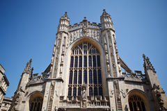 Αβαείο λουτρών ένα διάσημο ορόσημο στην πόλη του λουτρού σε Somerset Αγγλία Στοκ Φωτογραφία