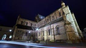 Αβαείο Hexham τή νύχτα Στοκ Φωτογραφία