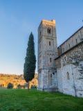 Αβαείο Sant& x27 Antimo, Montalcino, Τοσκάνη Στοκ φωτογραφία με δικαίωμα ελεύθερης χρήσης