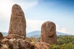 Αγάλματα πετρών Filitosa, megalithic περιοχή στοκ φωτογραφίες