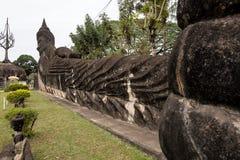 Αγάλματα του Βούδα στο πάρκο του Βούδα σε Vientiane, Λάος στοκ φωτογραφία με δικαίωμα ελεύθερης χρήσης