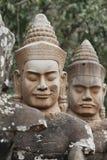 αγάλματα angkor thom Στοκ Εικόνες
