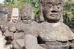 αγάλματα angkor thom Στοκ φωτογραφία με δικαίωμα ελεύθερης χρήσης