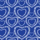 Αγάπης άνευ ραφής καρδιές doodle σχεδίων ρομαντικές μοναδικές Στοκ φωτογραφία με δικαίωμα ελεύθερης χρήσης