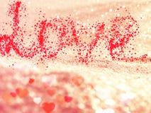 Αγάπης αφηρημένες ζωηρόχρωμες θαμπάδες καρδιών υποβάθρου λαμπρές Στοκ εικόνα με δικαίωμα ελεύθερης χρήσης