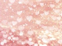 Αγάπης αφηρημένες ζωηρόχρωμες θαμπάδες καρδιών υποβάθρου λαμπρές Στοκ Φωτογραφίες